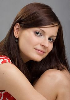 Free Portrait Of Young Beautiful Woman Royalty Free Stock Photos - 9808518