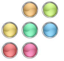 Free Color Buttons Royalty Free Stock Photos - 9808768