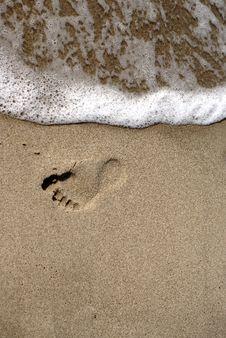 Free Foot Print Royalty Free Stock Photos - 9809098
