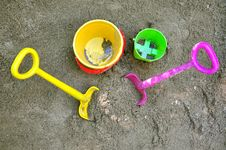Free Sand Toys Stock Photography - 9809732