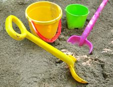 Sand Toys Royalty Free Stock Photos
