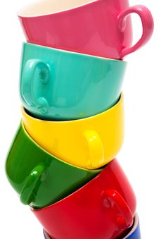 Free Beautiful Color Cups Royalty Free Stock Photos - 9809878