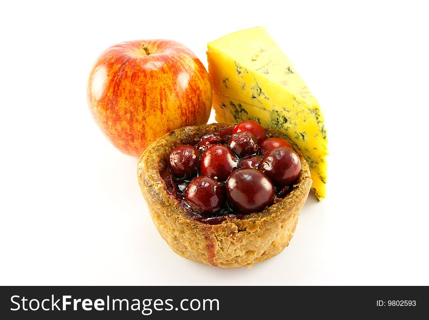 Pork Pie with Blue Cheese and Apple