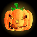 Free Vector Lumpy Halloween Pumpkin Royalty Free Stock Image - 9810536