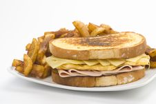 Free Tasty Sandwich Of Ham And Cheese Omelet Royalty Free Stock Image - 9810946