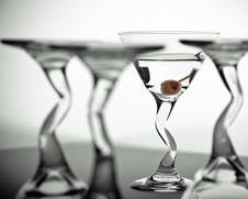 Free Martini Glasses Royalty Free Stock Photo - 9811165
