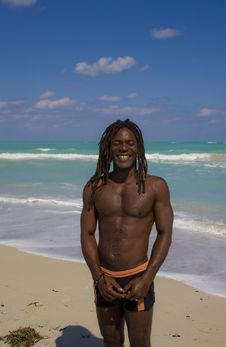 Free Smiling Man On The Beach In Cuba Royalty Free Stock Photos - 9811558