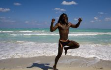 Free Jumping Man In Cuba Stock Photos - 9811603