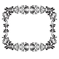 Style Flower Big Frame Royalty Free Stock Images