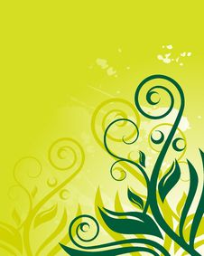Free Green Floral Background Stock Photos - 9812683