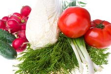 Free Close-up Heap Of Fresh Vegetables Stock Photo - 9812940