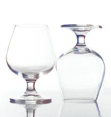 Free Two Empty Wine Glasses Stock Image - 9813831