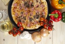Free Pizza With Mushrooms Stock Photo - 9814160