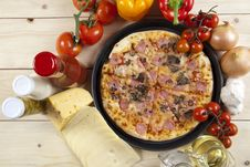 Free Pizza With Mushrooms Stock Photo - 9814210