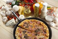 Free Pizza With Mushrooms Stock Images - 9814284