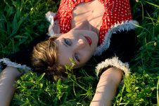 Free Portrait Woman Has A Rest Royalty Free Stock Photography - 9814337