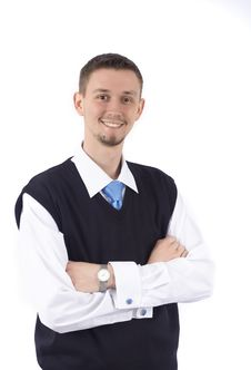 Free Portrait Of A Smiling Young Businessman Stock Photography - 9814352