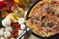 Free Pizza With Mushrooms Stock Photography - 9814412