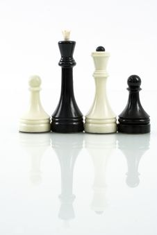 International Family Of Chess Pieces Royalty Free Stock Photos