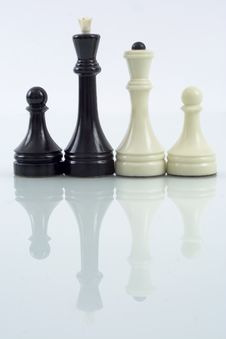 Family Of Chess Pieces Stock Image