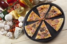Free Pizza With Mushrooms Stock Images - 9814514