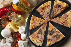 Free Pizza With Mushrooms Stock Photo - 9814560