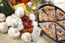 Free Pizza With Mushrooms Royalty Free Stock Image - 9814596