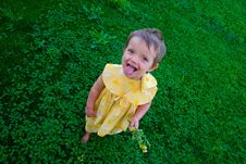 Free Funny Little Girl Royalty Free Stock Images - 9815029