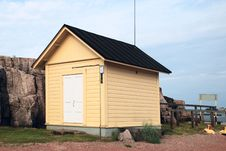 Small House By The Sea Royalty Free Stock Photography