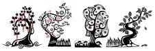 Free Cartoon Tree Stock Images - 9815424