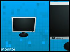 Free Flat Monitor Stock Photo - 9815470