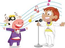 Free Singing Boy Stock Images - 9815664