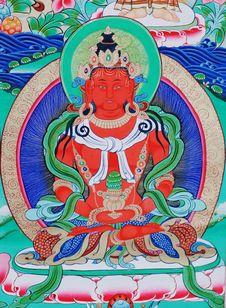 Free Buddha Of Thangka Stock Image - 9816011