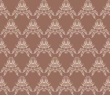 Free Damask (Victorian) Seamless Pattern Royalty Free Stock Image - 9816106
