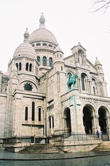 Free Sacre-coeur Front View Stock Photo - 9817530