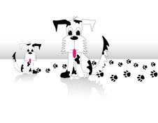 Free Big Mix Black And White Dog And His Puppy Royalty Free Stock Images - 9817549