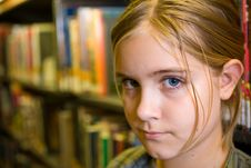 Free Girl In Library Stock Photos - 9819873