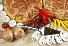 Free Pizza With Salami Stock Image - 9819921