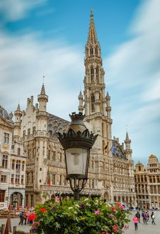 Free Brussels Square Of Grote Markt Stock Image - 98169881