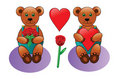 Free Teddy Bear With Heart And Roses Stock Images - 9824764