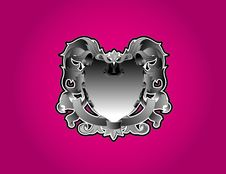 Free Metal Crest With Pink Background Royalty Free Stock Photography - 9820767