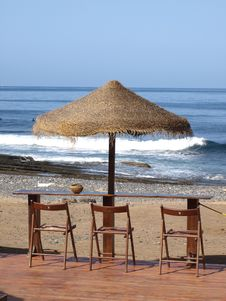 Free Seat By The Ocean Stock Photos - 9821153