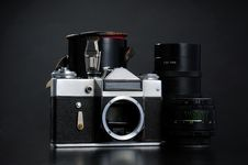 Free Old Camera Set Royalty Free Stock Image - 9821356
