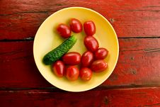 Summer Vegetables On A Plate Stock Image