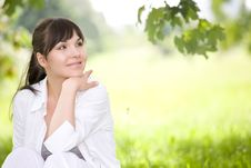 Free Woman On Grass Stock Photos - 9821903