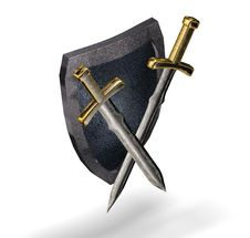 Free Shield And Swords. Royalty Free Stock Photos - 9821918