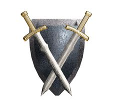 Free Shield And Swords. Stock Photos - 9821923