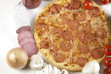Free Pizza With Salami Stock Image - 9821991