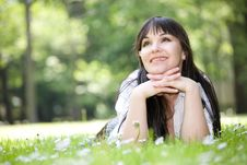 Free Woman On Grass Royalty Free Stock Image - 9822006