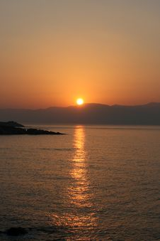 Free Sunup In Greece Stock Images - 9822644